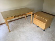 Crate & Barrel Desk and File Cabinet in Glendale Heights, Illinois