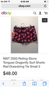 Rare. Rolling Stones surf shorts. in Fort Leonard Wood, Missouri