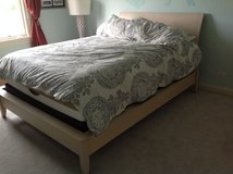 Queen bed frame with dresser in Naperville, Illinois