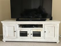 Distressed tv console in Baytown, Texas