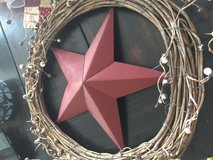 Wreath with star in Fort Bragg, North Carolina