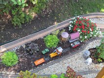 G-scale complete garden railroad with 4 engines in Lockport, Illinois