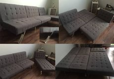 Modern Design Couch + Chaise lounge (like new) in Bellaire, Texas