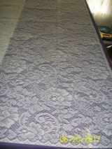 Brand new 60x84 ivory lace floral pattern tablecloths in Goldsboro, North Carolina