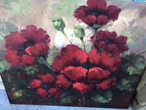 large Oil painting canvas poppy flowers in Naperville, Illinois