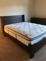 Queen size bed and dresser in Oceanside, California