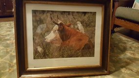 Framed Houston Livestock Show print in Houston, Texas