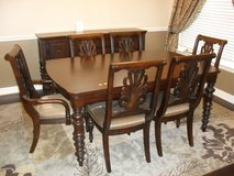 Ashley Dining Room table,, 6 chairs, center extension, Buffet cabinet,, in Bellaire, Texas