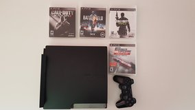 PlayStation 3 250GB with 1 Controller and 4 Games PS3 in Ramstein, Germany