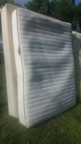 Beautyrest queen mattress and boxspring and frame in Fort Riley, Kansas