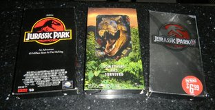Jurassic Park I II & III VHS Tape Movies Movie Lot in Kingwood, Texas