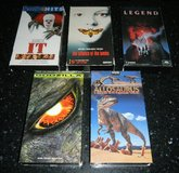 5 VHS Movie Lot Silence Of The Lambs IT Godzilla Legend + in Kingwood, Texas