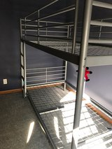 IKEA gray metal bunk beds GUC in Naperville, Illinois