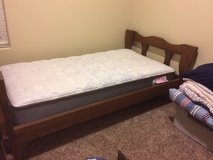 Twin Bed frame + brand new mattress and box spring in Fort Carson, Colorado