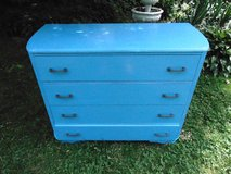 Lovely Refinished Blue Vintage Dresser in Sandwich, Illinois
