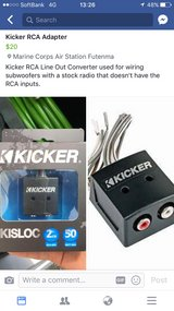 Kicker RCA Line Out Converter in Okinawa, Japan
