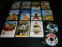 17 Puppy Dog DVD Movies Movie Lot Disney + Wishbone Benji Lassie Fluke Lenny in Houston, Texas