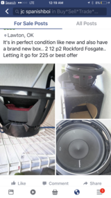 Car speakers and box in Lawton, Oklahoma