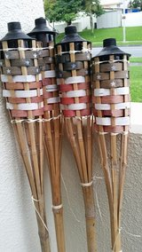 4 Bamboo Torches in Okinawa, Japan