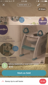 Potty seat with ladder in Davis-Monthan AFB, Arizona