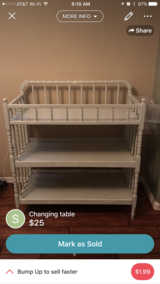 Changing table in Davis-Monthan AFB, Arizona
