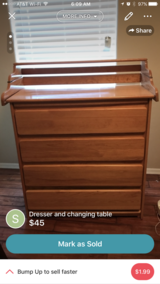 Changing table/dresser in Davis-Monthan AFB, Arizona