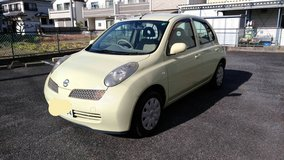 2004 Nissan March. New JCI included. Clean in Okinawa, Japan