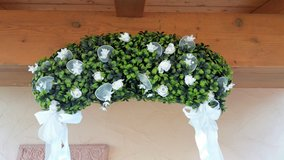 Noble boxwood wreath in Spangdahlem, Germany