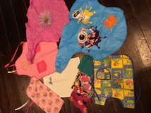 Little kids aprons and headscarves in Okinawa, Japan