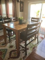 Very Cheap Counter Height table with bench! Moving next week.. please take it off my hands! in Kansas City, Missouri