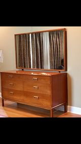 Mid Century Modern MCM Drexel Kipp Stewart Sun Coast Dresser and Mirror in Bartlett, Illinois