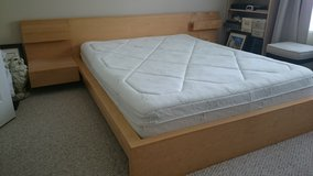 IKEA Queen Bed Frame, Tables. White Oak in Baytown, Texas