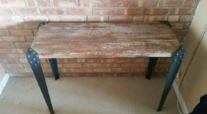 Industrial barnwood Console Table use as desk in Glendale Heights, Illinois