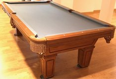 Delivered, Installed, New cloth, Accessory Kit 8 ft. World Of Leisure Pool Table in Lockport, Illinois