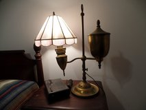 Converted antique oil lamp in Camp Lejeune, North Carolina