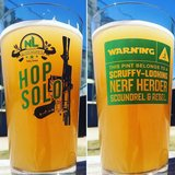 "STAR WARS ""HOP SOLO"" Pint Glasses by No Label Brewing CO. - Brand New - Call Now in Baytown, Texas"