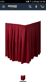 14 ft velcro table skirt in Bolingbrook, Illinois
