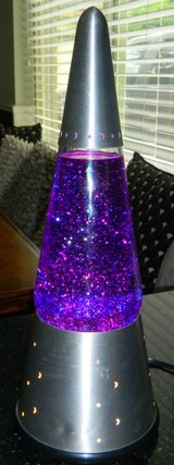 Lava Lite Silver Wizard Purple Glitter Lava Lamp #6633 Works Great in Kingwood, Texas