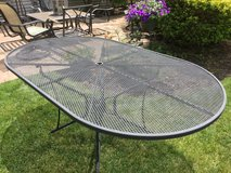 6' wrought iron table in Lockport, Illinois