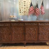 Antique Carved Buffet Gorgeous Possibly Rosewood Big Beautiful in Fort Leonard Wood, Missouri