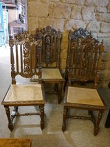 4 chairs , Hunting Style around 1880 , oak in Baumholder, GE