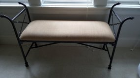 Black Wrought Iron Bench - Like New in Beaufort, South Carolina