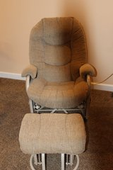 glider and footstool in Fort Campbell, Kentucky