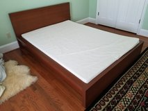 Excellent Condition - Full Platform Bed with Memory Foam Mattress in Columbia, South Carolina