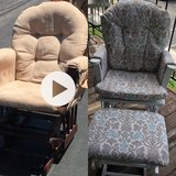 Gliding Rocking Chair and Ottoman- Flipped! in Great Lakes, Illinois
