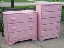 2 Small Pink Dressers in Glendale Heights, Illinois