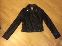 Black leather jacket in Yucca Valley, California
