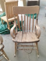 Antique rocking chairs in Yucca Valley, California