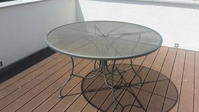 Metal patio table in Ramstein, Germany