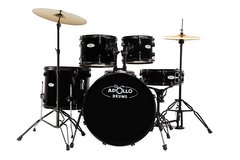 Apollo Drums AP522BK 5-piece Drum Set, Black in Cherry Point, North Carolina